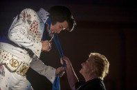 --Feature 2nd Place: Jay Westcott/Freelance--Doug Church, of Mishawaka, Indiana, performs during finals of the 2014 Ocean City ElvisFest on Sunday, Oct. 26, 2014 in Ocean City, Md. Church went on to win the 2014 Ocean City ElvisFest.
