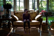 --Portrait HM: Rich-Joseph Facun/The Virginian-Pilot--Hennglise Dorival, 15, who is from Haiti, at her host family's home, Friday, April 25, 2014 in Virginia Beach, VA. Dorival suffers from a massive facial deformity caused by a tumor that began growing four years ago in one of the sinuses of her nose. This coming Monday, staff from Operation Smile will remove the tumor at CHKD through the World Care program.