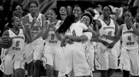 --Sports Feature 3rd Place: Jason Hirschfeld/Associated Press--The Savannah State women's basketball team celebrates their 65-47 NCAA college basketball game win over Maryland Eastern Shore in the Mid-Eastern Athletic Conference tournament championship, Saturday, March 14, 2015 in Norfolk, Va.