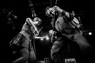 VIRGINIA BEACH, VA - FEB 15: Dada Gauche, left, accompanies Phillip Roebuck on stage during his album release party at The Jewish Mother on Saturday, Feb. 15, 2014 in Virginia Beach, Va.