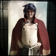 "Ryan Lee, 22, cosplays as Kamina. Lee asked ""Why wouldn't someone cosplay kamina?"""