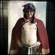 "Ryan Lee, 22, cosplays as Kamina. Lee asked ""Why wouldn't someone cosplay kamina?"""