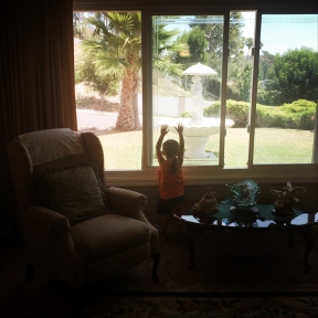 Opal plays at her grandparents' house in Mission Viejo, California. A few days later we would begin the 2,700 mile drive back east to Virginia.