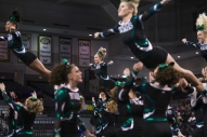 Wilson Memorial High School cheerleaders perform during the Group 2A cheerleading state championship in Richmond on Nov. 8, 2014.