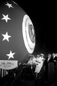 Jeanne Warner christens the submarine John Warner SSN 785 Saturday evening at Newport News Shipbuilding.