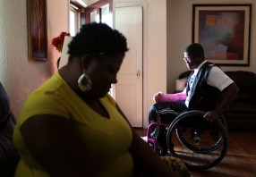 Lawanda Booker and her son, Edward Miller (16, back in 2013) spent time at their home in Richmond on Wednesday, September 11, 2013. One of the difficulties for Edward after being shot is that he needs to spend most of his time at his home for medical issues. He used to be very active and outgoing boy.