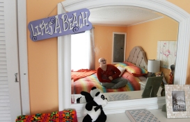 Emma Turner laughs as she shows off her newly remodeled bedroom at her home near Parksley, Va. on Friday, Nov. 27, 2015. Turner, 11, is being treated for an aggressive brain cancer, while her mother is undergoing treatment for breast cancer at the same time. Roc Solid Foundation, a Hampton Roads non-profit, recently remodeled Turner's bedroom while it sent the family to the Great Wolf Lodge in Williamsburg, Va.