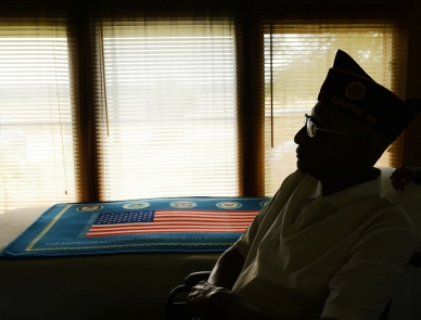 HM PORTRAIT: Jay Diem, Delmarva Now---Irving Jarvis, a World War II U.S. Army veteran, will turn 90 on Saturday, July 4, 2015. Jarvis plans to celebrate with family and friends at his home in Eastville, Va.
