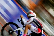 HM SPORTS ACTION: Dean Hoffmeyer Times-Dispatch---Keitaro Sawada of Japan rides west on Broad St. during the UCI Men's Junior Individual Time Trials on Tuesday, Sept. 22, 2015 in downtown Richmond, VaRichmond, Va.