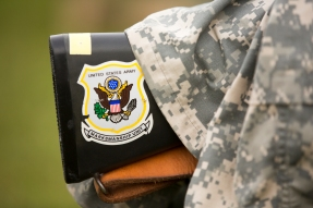 an Army Marksmanship Unit rifle is seen resting during the 54th Interservice Rifle Match held at Quantico Va., on Tuesday, June 30, 2015.