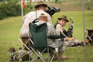 Staff Sgt. Chad Ranton (right). of the U.S. Marine Corps Rifle Team, competes at the 54th Interservice Rifle Match held at Quantico Va., on Tuesday, June 30, 2015.