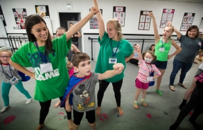 Participants practice their favorite super hero moves during Forest Dance Academy's Superhero Dance Camp.