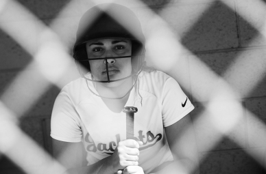 Northampton's Makayla Wilson poses for a portrait in the home dugout at Northampton High School's softball field on Thursday, April, 14, 2016. Wilson is the team's leading hitter and one of its vocal leaders on the diamond.