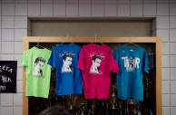 Taylor Rodriguez t-shirts and merchandise are sold after a show at Jefferson Forest High School.