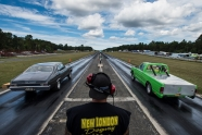 Cars take off from the starting line at the New London Dragstrip on Sunday September 11, 2016 in Forest, Va.