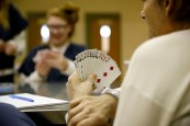 Women at the Chesterfield County Jail play spades in the common area of the pod on Oct. 19, 2016. The women are part of an opioid program in the jail.