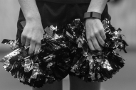 Haley Coleman, 15, holds her pompoms during a Dynamic Cheer Super Stars practice on Saturday April 2, 2016 in Lynchburg, VA.