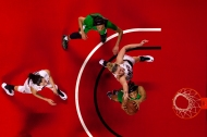 Lady Toppers forward Ivy Brown (23) and Marshall University forward Talequia Hamilton (0) fight for a rebound during the Lady Toppers' 73-57 win over Marshall University on Saturday Jan. 21, 2016 at E.A. Diddle arena.