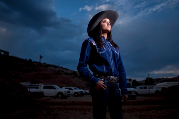 Blythe Beshears, 17 of Gilbert, AZ, competed in the Barrel racing, Poles, breakaway and team roping during the Best of the Best timed events Rodeo on June 22, 2016 at Red Rock Park in Churchrock, Nm.