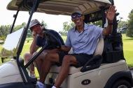 Former President Barack Obama enjoys a round of golf in Rockville, Maryland on Sunday, June 26, 2016.
