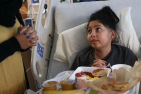 Though her appetite has decreased since stopping the steroids, Lola felt up to eating meals during her stay at St. Jude, in which Melissa continues to instill the importance of prayer. Melissa notes that religion has kept her grounded in coping with Lola's diagnosis. December 15, 2016.