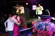MEMPHIS, TN - AUGUST 14: Matt Joyce dances with Anne Kathrin to the music of Elvis Tribute Artist, Robert Washington while Amanda Dorrington, is seen at right at Blues City Band Box on Monday August 14, 2017 in Memphis, TN. August 11-19 is Elvis Week. This year marks the 40th year since Elvis Presley's death.