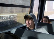 James Rasnick, a tenth grader at Ridgeview High School in Dickenson County, takes the bus home on Thursday, Dec. 15, 2016. Rasnick attended the former Clintwood High School before it was consolidated. Haysi, Clintwood and Ervinton High School were combine to make the new school.