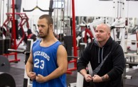 Personal trainer, Joe Hartfelder ,right, helps Jon Atkins,19, with his poses during his workout at Houze Of Champions gym in Virginia Beach Wednesday, Feb. 15, 2017 just days before his first body building competition in Hampton for The Body Sculpting Open Championships at The American Theatre. Atkins has worked with Hartfelder for the past year in preparing for the competition.