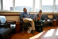 Stacy and Bill Saville anxiously wait in the waiting room while their son Jackson was getting his first injection of Spinraza, the first FDA approved medicine to treat a genetic disorder called spinal muscular atrophy at at ChildrenÕs Hospital of The KingÕs Daughter on Thursday, March, 2, 2017. The procedure was taking longer than expected and Stacy was getting nervous that they hadn't heard any updates.