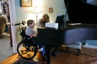 8-year-old Jackson Saville and his mom Stacy in their home in Virginia Beach, Va., on Tuesday, January 31, 2017. Jackson lives with Spinal Muscular Atrophy, a rare genetic condition that his sister, Morgan, died of when she was 3 years old in 2005. The FDA recently approved the first drug called Spinraza to treat it, and Jackson started receiving the medicine in March 2017.