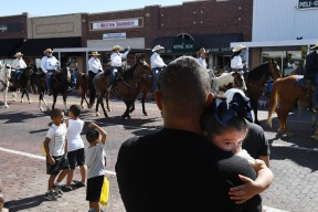 People watch the Pioneer Days parade along Main Street on Saturday May 05, 2018 in Guymon, OK. This was the 86th year of the event that included four rodeo performances.