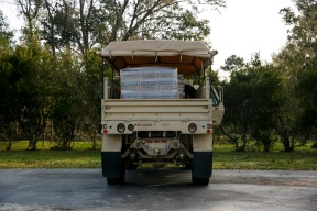 A National Guard Truck loaded with MRE's for Hurricane Florence survivors in Rocky Point, N.C., on Saturday, September 22, 2018.