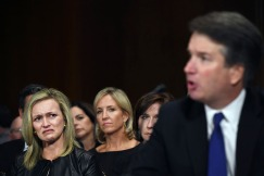 1st PLACE NEWS: MATT MCCLAIN, WASHINGTON POST--Family and friends watch Brett Kavanaugh during a hearing that Christine Blasey Ford also gave testimony on Capitol Hill on Thursday September 27, 2018 in Washington, DC. Ford has accused Kavanaugh of sexual assault.