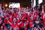 2nd PLACE SPORTS: MATT MCCLAIN, WASHINGTON POST--Washington Capitals fan, Mackenzie Frazier and others react to the Capitals first goal during game 5 of the NHL Stanley Cup Finals between the Capitals and Vegas Golden Knights near Capital One Arena on Thursday June 07, 2018 in Washington, DC.