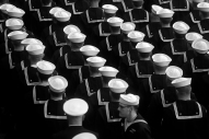 Sailors of the submarine Delaware stand in formation during the christening ceremony at Newport News Shipbuilding Saturday morning October 20, 2018. Delaware will be the ninth Virginia-class submarine that Newport News has delivered — 18th in the entire class.