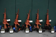 Replica firearms are seen lined up as trainees take part in an edge weapons training class at the United States Border Patrol Academy on Thursday August 30, 2018 in Artesia, NM. The academy is on the grounds of the Federal Law Enforcement Training Center.