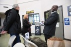 Ansly Damus picks up his belongings with Gary Benjamin and his wife, Melody Hart at the Geauga County Sheriff's Office on Friday November 30, 2018 in Chardon, OH. Damus, who is from Haiti has been detained since 2016 after coming to the United States to seek asylum. Ansly spent most of his time in detainment at the Geauga County Safety Center located on the same grounds at the Sheriff's office. Friday he was released from an ICE facility in Brooklyn Heights, OH and had to travel to Chardon, OH to get his belongings. Ansly was released on Friday to live with Benjamin and Hart.