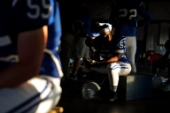 2nd Place Portrait: Jonathon Gruenke, Daily Press---Juan Mikel-Jones sits inside the weight room of New Kent before the start of Friday's football game against Poquoson September 21, 2018. In January, Juan underwent heart transplant surgery after being diagnosed with cardiomyopathy in October.